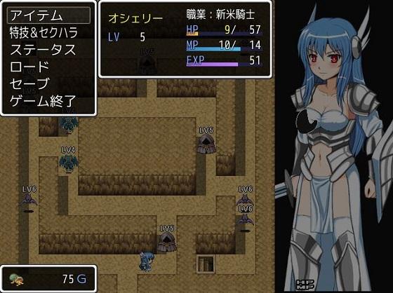 箱庭世界の女騎士001